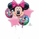 Buchet Baloane Minnie Mouse Happy Birthday, Amscan 18796, set 5 bucati