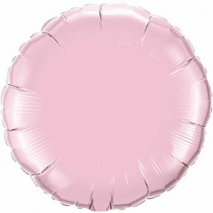 Balon folie pink pearl metalizat rotund - 45 cm, Qualatex 60678