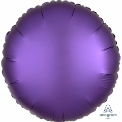Balon folie 45 cm rotund Satin Luxe Purple Royale, Amscan 36817