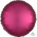 Balon folie rotund 45 cm Satin Luxe Pomegranate, Amscan 36827