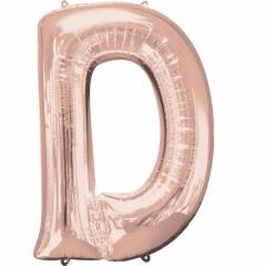 Balon Folie Mare Litera D Rose/Gold - 60 x 83 cm, Amscan 36567