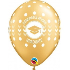 "Baloane latex 11"" inscriptionate Congratulations Graduate, Qualatex 48290"