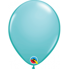 Balon Latex Caribbean Blue, 5 inch (13 cm), Qualatex 50319, Set 100 buc