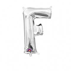 Balon folie litera F argintiu - 41cm, Amscan 33021