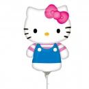Balon mini figurina Hello Kitty Summer - umflat + bat si rozeta, Amscan 21844