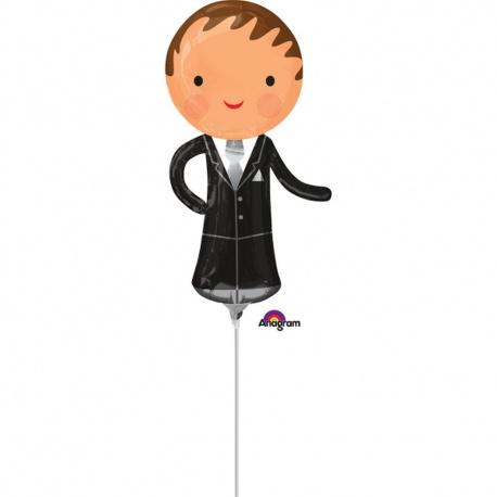 Balon mini figurina Mire  - 15 x 33 cm, umflat + bat si rozeta, Amscan 35195
