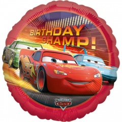 Balon Folie 45 cm - Birthday Champ - Cars - Amscan 17799