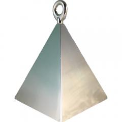 Greutate pentru baloane forma piramida - argintie, Qualatex 14420