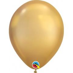 "Baloane latex 11""/28cm Gold - Chrome, Qualatex 58271"