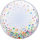 "Balon Deco Bubble - Confetti Multicolore - 24""/61 cm, Qualatex 57791"