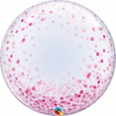 "Balon Deco Bubble - Confetti Roz - 24""/61 cm, Qualatex 57790"