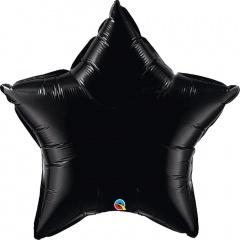 "Balon folie metalizat stea neagra - 36""/ 91 cm, Qualatex 12327"