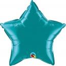 "Balon folie metalizat stea teal - 20""/50 cm, Qualatex 36576"