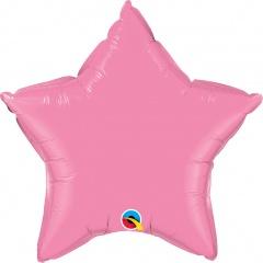 """Balon folie metalizat stea rose - 20""""/50 cm, Qualatex 12620"""