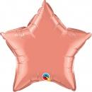 "Balon folie metalizat stea coral - 20""/50 cm, Qualatex 17374"
