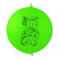 Baloane Latex Punch Ball 45 cm, Inscriptionate Desene, Tex GPBI1.ASS, set 5 bucati