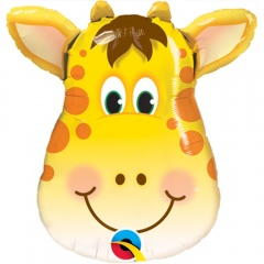 Balon Mini Figurina Girafa - 36 cm, umflat + bat si rozeta, Qualatex 41790