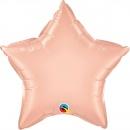 """Balon folie metalizat stea rose gold - 20""""/50 cm, Qualatex 51765"""
