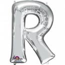"Balon Folie Mare Litera R Argintiu - 34""/86 cm, Amscan 32981"