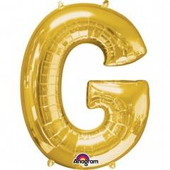 Balon folie mare litera G auriu - 81 cm, Amscan 32959