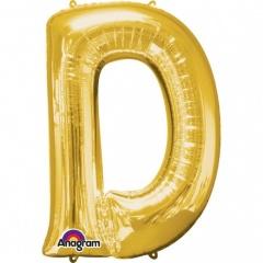 Balon folie mare litera D auriu - 86 cm, Amscan 32953