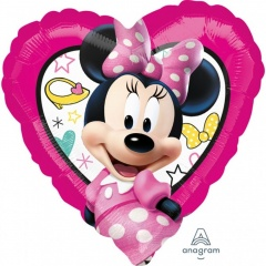 Balon folie inima Minnie Mouse - 45 cm, Amscan 36235