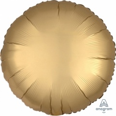 Balon folie 45 cm rotund Satin Luxe Gold, Amscan 36801
