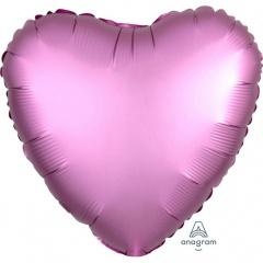 Balon folie inima 45 cm Satin Luxe Flamingo, Amscan 36822