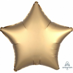 Balon folie stea 45 cm Satin Luxe Gold, Amscan 36804
