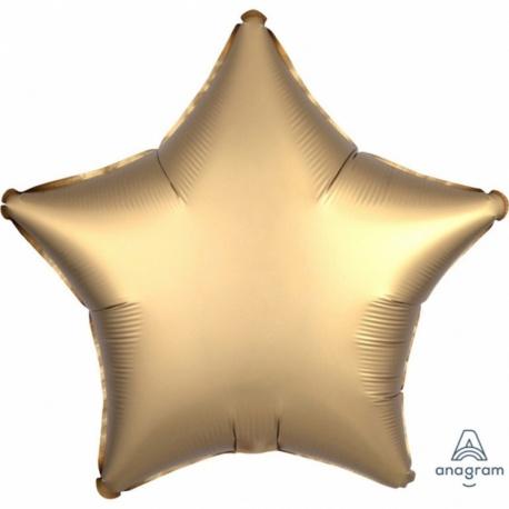 Balon folie stea 45 cm Satin Luxe Gold, Amscan 36804