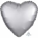 Balon folie inima 45 cm Satin Luxe Platinum, Amscan 36806