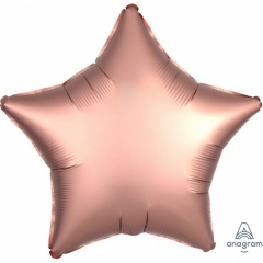 Balon folie 45 cm stea Satin Luxe Rose Gold, Amscan 36826
