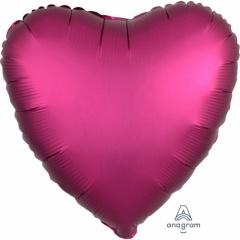 Balon folie inima 45 cm Satin Luxe Pomegranate, Amscan 36828