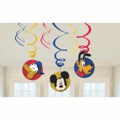 Serpentine decorative Mickey Mouse pentru petrecere, Amscan 9903175, set 6 buc