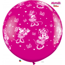 Balon Latex Jumbo 3 ft Minnie Mouse Disney, Qualatex 49577, 1 buc