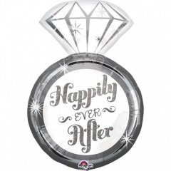 Balon Folie Figurina Inel - Happily ever after - 45 x 68 cm, Amscan 34458