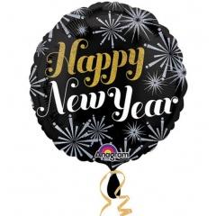 "Balon Folie 45 cm "" Happy New Year "" Sparkle, Amscan 27249"