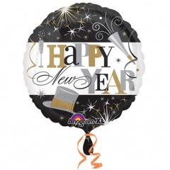 "Balon Folie 45 cm "" Happy New Year "" Celebration, Amscan 26031"