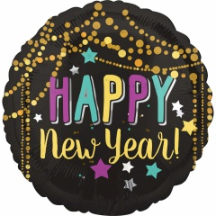 "Balon Folie 45 cm ""Happy New Year"" Festive, Amscan 36026"