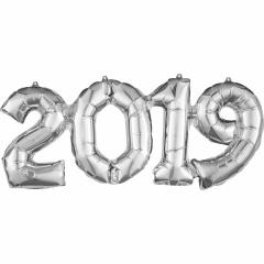 Pachet baloane folii 2019 argintiu - 53 cm x 22 cm, Amscan 37933