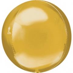 Balon folie orbz Auriu - 38 x 40 cm, Amscan 28205