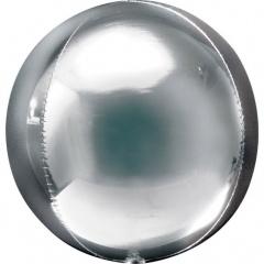 Balon folie orbz Argintiu - 38 x 40 cm, Amscan 28201