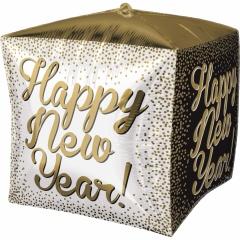 Balon folie cubez 3D Happy New Year - 38 x 38 cm, Amscan 36023