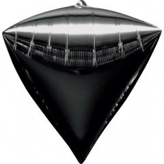 Balon folie diamondz Negru - 38 x 43 cm, Amscan 28346