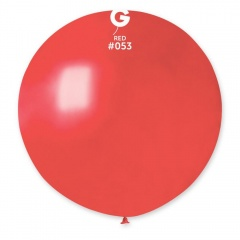 Balon Latex Jumbo 80 cm, Red 53 Sidefat, Gemar GM220.53, set 5 buc