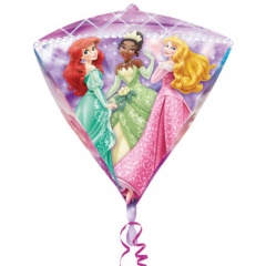 Balon Folie Diamondz Printese Disney - 38x43cm, Amscan A28453