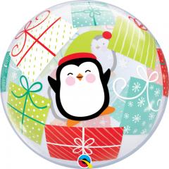 """Balon Bubble 22""""/56 cm, Pinguin & Cadouri, Qualatex 43438"""
