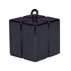Greutate pentru baloane forma cadou - negru, Qualatex 14389