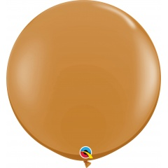 Baloane latex Jumbo 3 ft Mocha Brown, Qualatex 44564, set 1 buc