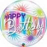 "Balon Bubble 22""/56 cm, Birthday Sorbet Starblast, Qualatex 25704"